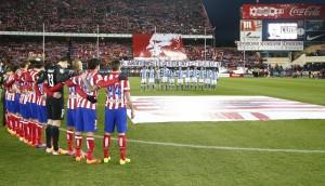 Homenaje a Luis Aragonés en el Vicente Calderón Foto: Europa Press