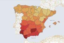 Mapa del paro. EPA T1 2013