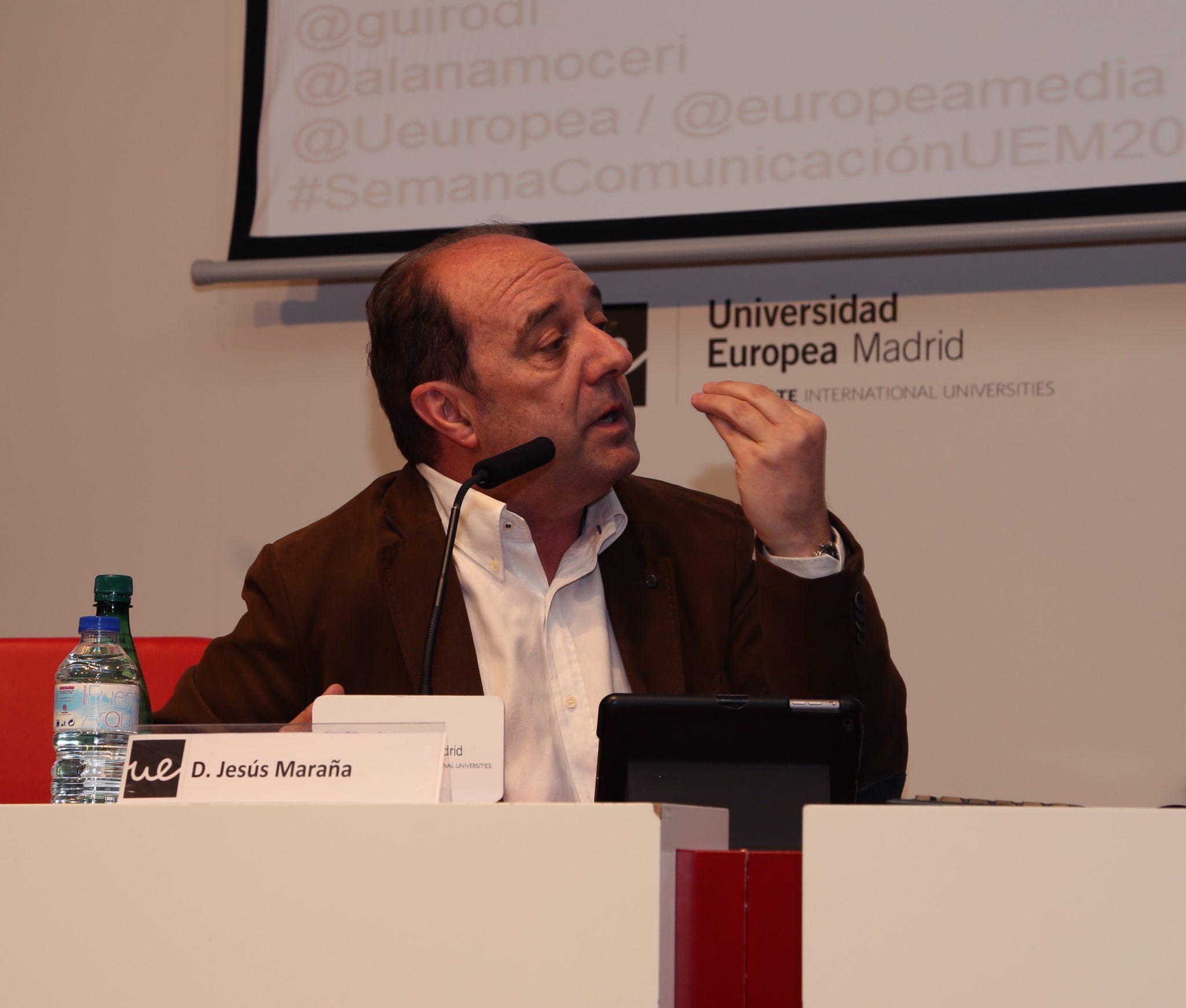 Jesús Maraña, durante Re-inventando el periodismo