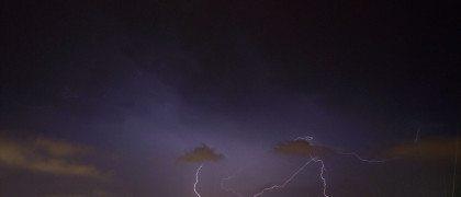Rayos y tormentas en el caluroso verano de 2014