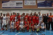 Los equipos de Leganés y Rivas antes del partido//Foto:Teresa Novillo