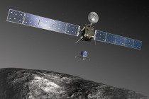 Representación de la sonda philae descendiendo al cometa (vozpopuli.com)