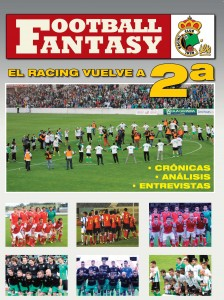 Portada de la revista Football Fantasy, sobre el Racing de Santander, de Arturo Herrera.