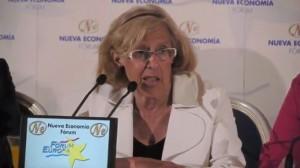 Manuela Carmena durante la rueda de prensa
