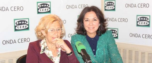 Manuela Carmena e Isabel Gemio. Fuente: Onda Cero