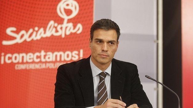 Pedro Sanchez durante una conferencia