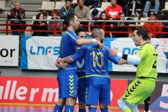 Celebración de uno de los goles del Inter Movistar