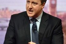 British Prime Minister David Cameron appears on BBC Andrew Marr Show