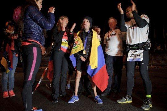 Maickel Melamed durante su participación en el maratón de Berlín. Fotografía: RominaHendlin