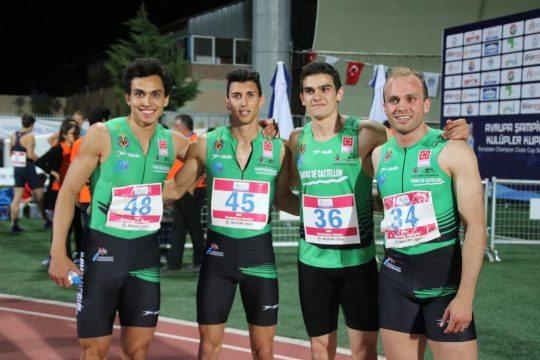 De izquierda a derecha: Arián-Téllez, Daniel Rodríguez, Bruno Hortelano y Alberto Gavalda.
