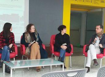 De izquierda a derecha: Ana Requena, Almudena Rodríguez, Carolina Meloni y José María Palomares.
