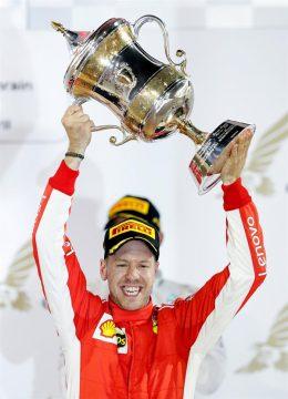 Vettel celebra su victoria // Fuente: EFE