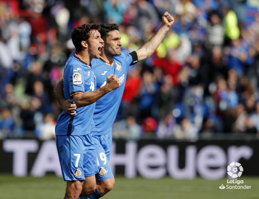 Jaime Mata y Jorge Molina, máximos goleadores del Getafe, volvieron a marcar ante el Rayo Vallecano / Imagen: LaLiga