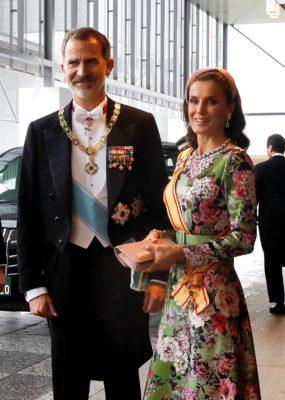 Reyes de España asisten a entronización de Naruhito en Japón