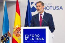 El rey inauguró en Galicia el Foro La Toja Vínculo Atlántico