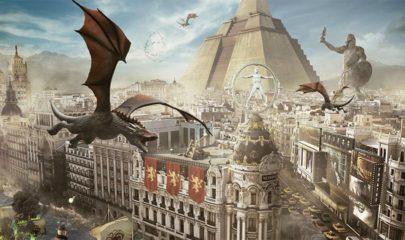 Ilustración de la ciudad de Madrid con Juego de Tronos. Foto: HBO España