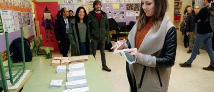 Ione Belarra ejerciendo su voto- EFE
