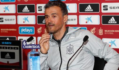 Luis Enrique en rueda de prensa en la sede de la federación española en Las Rozas / https://www.sefutbol.com/