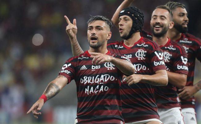 Flamengo derrotó de manera dramática a River Plate en la final de la Copa Libertadores. Fotografía: EFE.