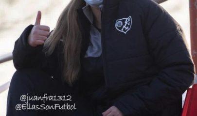 Yasmin Mrabet, jugadora del Rayo Vallecano femenino