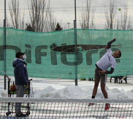 Giorgi Deyanov nieve filomena entrenando nadal djokovic australia universidad europea madrid españa tenista