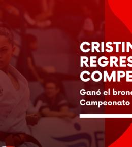 Cristina Orbe regresa a la competición y gana el bronce en el Campeonato de Madrid