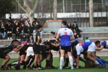 El equipo universitario de Ciencias de la Información en el arranque de un partido frente al equipo de Derecho. Foto: Lucía Alfonso González