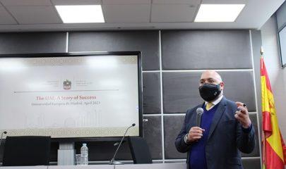 Embajador de Emiratos Árabes en la Universidad Europea de Madrid. Foto: de Europea Media
