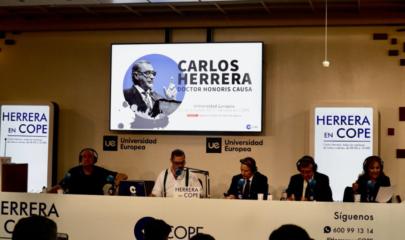 """Carlos Herrera e invitados a su programa """"Herrera en COPE"""" en vivo desde la Universidad Europea"""