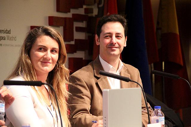 Carlota Corredero y Luis Alonso durante la ponencia