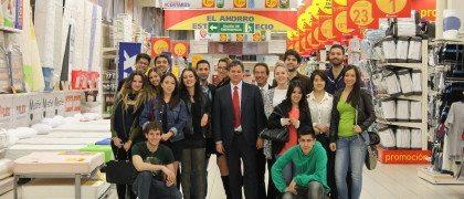 Visita alumnos a Alcampo