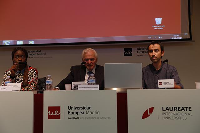 (De izquierda a derecha) Isabel Elunku, Juan de Dios Ramírez-Heredia y Julio Díaz